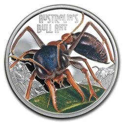 2015 Tuvalu 1 oz Silver Bull Ant Proof