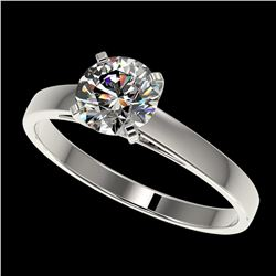 1.07 ctw Certified Quality Diamond Engagment Ring 10k White Gold