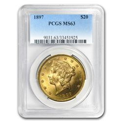 1897 $20 Liberty Gold Double Eagle MS-63 PCGS