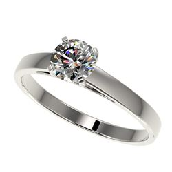 0.77 ctw Certified Quality Diamond Engagment Ring 10k White Gold