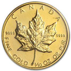 1982 Canada 1/10 oz Gold Maple Leaf BU