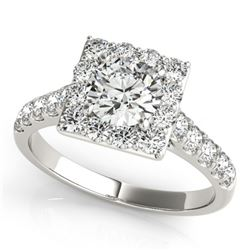 2 ctw Certified VS/SI Diamond Solitaire Halo Ring 14k White Gold