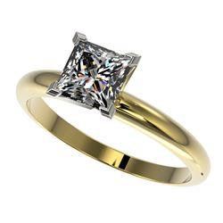 1.25 ctw Certified VS/SI Quality Princess Diamond Ring 10k Yellow Gold