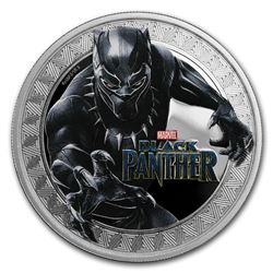 2018 Tuvalu 1 oz Silver Black Panther Proof