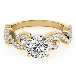 1.15 ctw Certified VS/SI Diamond Ring 18k Yellow Gold