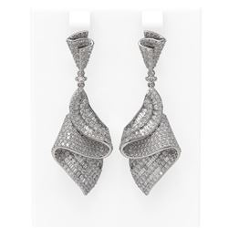 7.5 ctw Diamond Earrings 18K White Gold