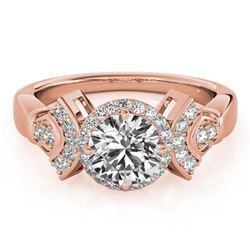 1.56 ctw Certified VS/SI Diamond Halo Ring 18k Rose Gold