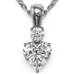 0.6 ctw Heart Diamond Designer Necklace 18K White Gold