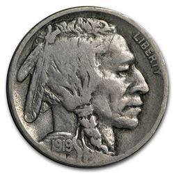 1919-D Buffalo Nickel VF