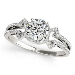 0.9 ctw Certified VS/SI Diamond Solitaire Ring 14k White Gold