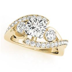 2.26 ctw Certified VS/SI Diamond Bypass Ring 18k Yellow Gold