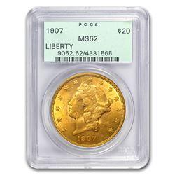 1907 $20 Liberty Gold Double Eagle MS-62 PCGS