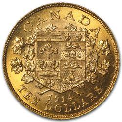 1914 Canada Gold $10 Canadian Gold Reserve Gem BU
