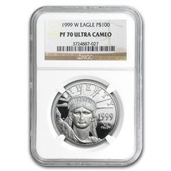 1999-W 1 oz Proof Platinum American Eagle PF-70 NGC