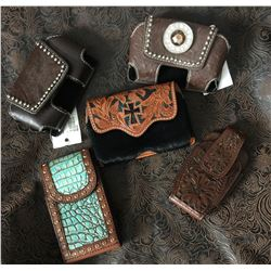 """CELL PHONE CASES /4- MEASURE APPROX 3.5""""X5""""1-FLIP PHONE CASE"""