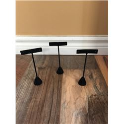 """SET OF 3 EARRING DISPLAY STANDS/6"""" TALL"""