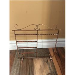 """COPPER METAL JEWELERY DISPLAY13""""TALL/13"""" WIDE/GREAT FOR HANGING EARRING, NECKLACES, BRACELETS!!"""