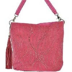 LARGE HANBAG WITH SILVER BLINGSequence purse/1 strap/Tassel on side of strap/2 pockets inside/2 pock
