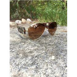 MONTANA WEST WESTERN BROWN AVIATOR SUNGLASSESBrown western style aviator sunglasses. Brown with silv