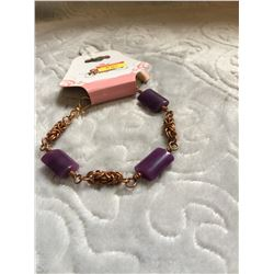 COPPER AND PURPLE STONE/ MADE IS SASK/BRACELET