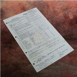"Back to the Future - Original Production Call Sheet Featuring Eric Stoltz as ""Marty"" – VII170"