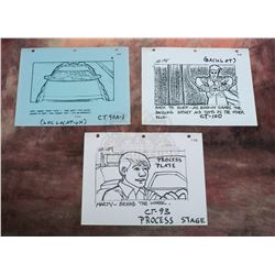 Back to the Future – Set of Production Used Storyboard Prints– VII94