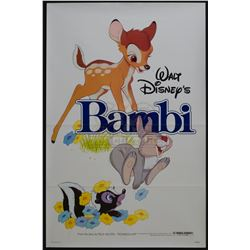 Bambi – Original 1982 Release One-Sheet Poster – 1224