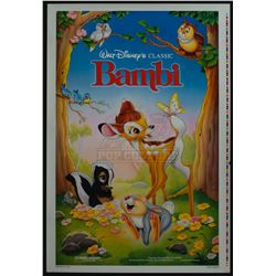 Bambi – Original 1988 Release Printer's Proof One-Sheet Poster – 1221
