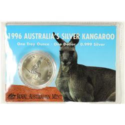 1996 AUSTRALIA $1 SILVER KANGAROO 1 OZ. .999 SILV.