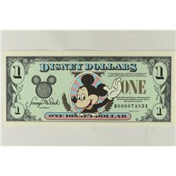 1998 DISNEY DOLLAR CRISP UNC