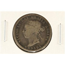 1890-H CANADA SILVER 25 CENTS