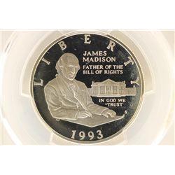 1993-S BILL OF RIGHTS MADISON SILVER HALF DOLLAR