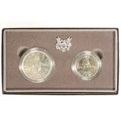 1989 US CONGRESSIONAL 2 COIN SET CONTAINS: