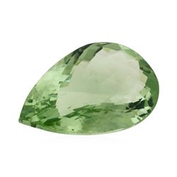 29.71 ct. Natural Pear Cut Green Amethyst