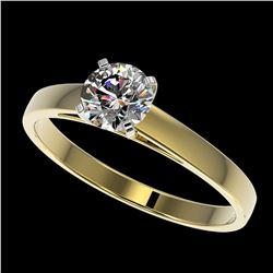 0.73 ctw Certified Quality Diamond Engagment Ring 10k Yellow Gold