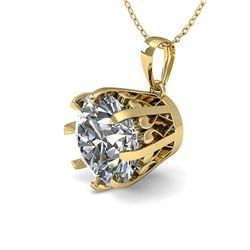 1.50 ctw VS/SI Diamond Necklace Vintage 18k Yellow Gold