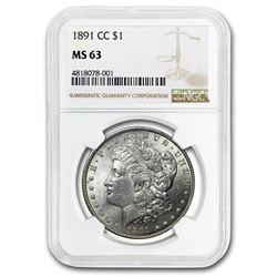 1891-CC Morgan Dollar MS-63 NGC