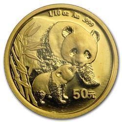 2004 China 1/10 oz Gold Panda BU (Sealed)