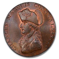 1794 Suffolk Bury Penny Conder Token MS-65+ PCGS (BN)
