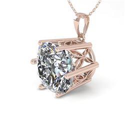 1 ctw Certified VS/SI Cushion Cut Diamond Necklace 18k Rose Gold