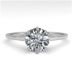 1.01 ctw Certified VS/SI Diamond Engagment Ring 18k White Gold