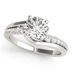 1.06 ctw Certified VS/SI Diamond Bypass Ring 14k White Gold