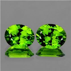 Natural Best AAA Green Peridot Pair 10x8 MM - Flawless
