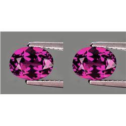 Natural Pinkish Purple Rhodolite Garnet Pair 7x5 MM