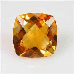 Natural Cushion Checker Citrine 5.30 Cts - Untreated