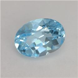 NATURAL SKY BLUE TOPAZ 12x9 MM - FLAWLESS