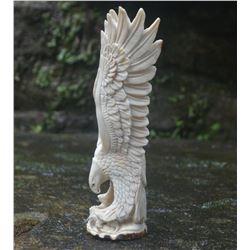 Stunning Hand Carved Antler Eagle