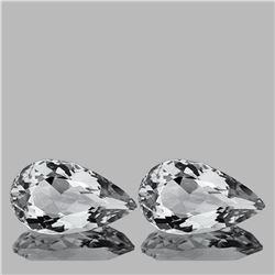 Natural Diamond White Aquamarine Pair 13x8 MM