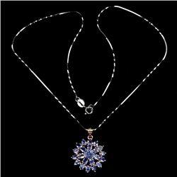 Natural Unheated Tanzanite Necklace