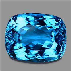 Natural AAA Fire Swiss Blue Topaz 33.90 Cts - FL